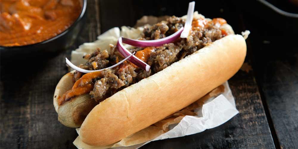 hot dog ternera guisada