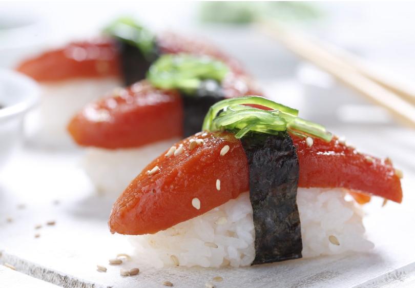 Alternativa vegetal al sushi tradicional
